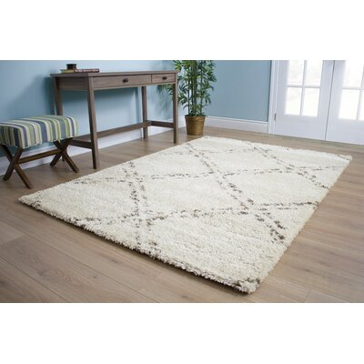 Beaumont Tile Cream Area Rug Rug Size: 53 x 77