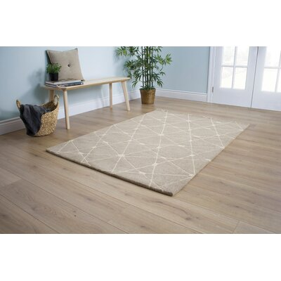 Gauna Connect the Dots Beige Area Rug