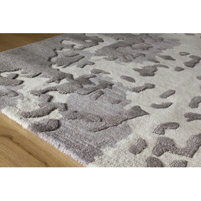 Melina Shattered Glass Gray/Cream Area Rug Rug Size: 53 x 77