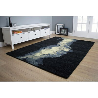 Christiana Gray/Cream Area Rug Rug Size: 53 x 77