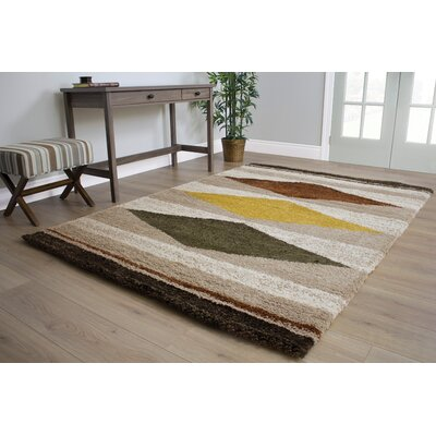 Gabriel Native Diamonds Soft Touch Cream Area Rug Rug Size: 53 x 77