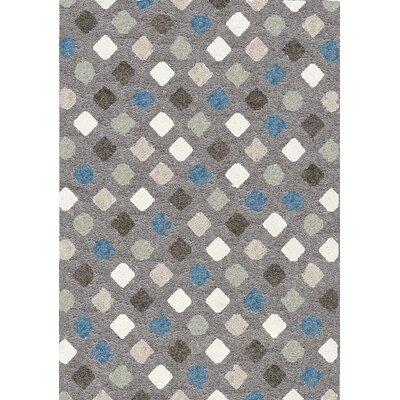 Kaelyn Kaleidescope Gray Area Rug Rug Size: 53 x 77