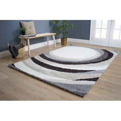 Kellan Upward Spiral Cream Area Rug Rug Size: 53 x 77