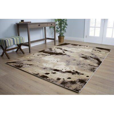 Lachlan Patches Beige Area Rug Rug Size: 53 x 77
