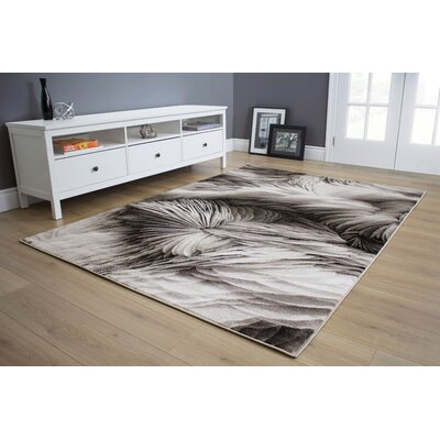 Mariam Feathers Gray Area Rug Rug Size: 710 x 106