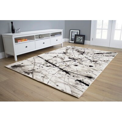 Lachlan Splatters Beige Area Rug Rug Size: 710 x 106