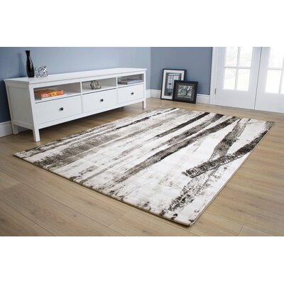 Lachlan Forest Gray Area Rug Rug Size: 53 x 77