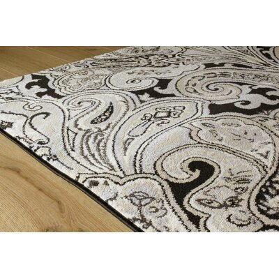 Abbate Intricate Symmetry Beige Area Rug Rug Size: 53 x 77