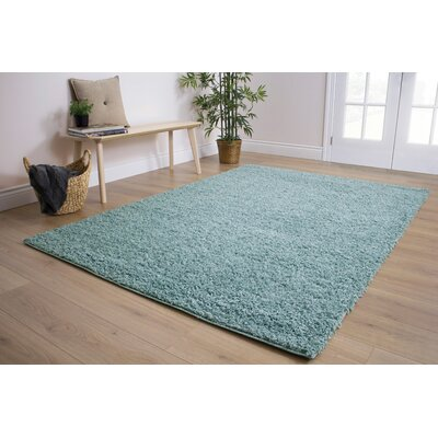 Bathford Pastel Blue Area Rug Rug Size: 53 x 77