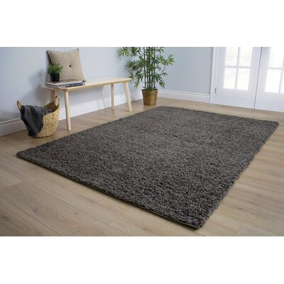 Bathford Charcoal Area Rug Rug Size: 53 x 77