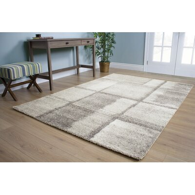Celeste Ice Blocks Gray Area Rug Rug Size: 710 x 1010