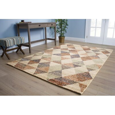 Wesley Rustic Triangles Beige Area Rug Rug Size: 710 x 1010