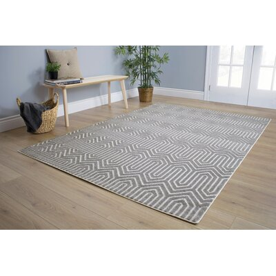 Vincent Maze Pattern Gray Area Rug Rug Size: 710 x 106