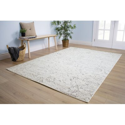 Anise Muted Cream Area Rug Rug Size: 111 x 37