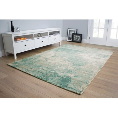 Centauri Rectangle Soft Sponge Gray/Blue Area Rug