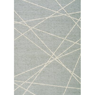 Elaine Soft Blue Laser Beams Blue Outdoor Area Rug Rug Size: 53 x 77
