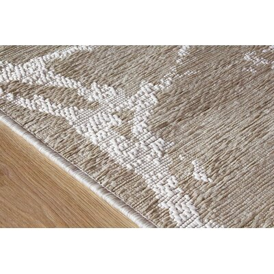Colon Neutral Marble Beige Outdoor Area Rug Rug Size: 53 x 77