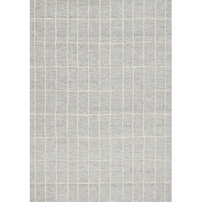 Beaudette Neutral Line Doodles Outdoor Gray Area Rug Rug Size: 53 x 77