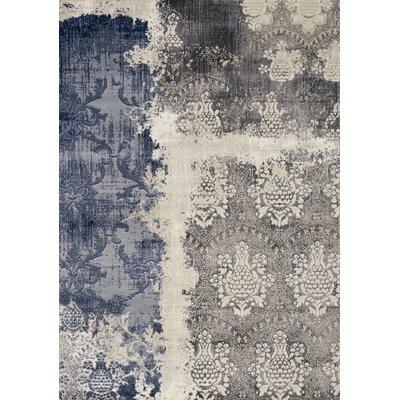 Mockingbird Impression Gray/Blue Area Rug Rug Size: Rectangle 53 x 77