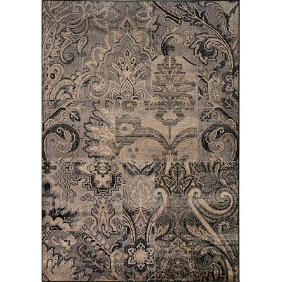 Marsha Mixed Patches of Elegance Gray Area Rug