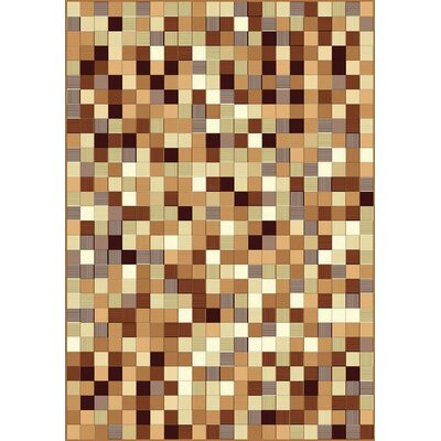 Ramel Weaved Squares Beige Area Rug Rug Size: Rectangle 53 x 74