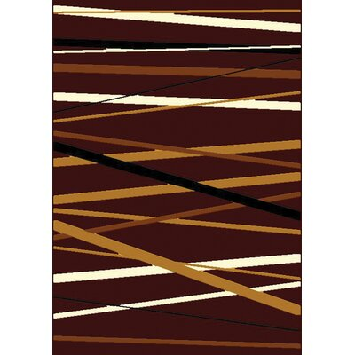 Ramel Brown/Yellow Area Rug Rug Size: Rectangle 53 x 74