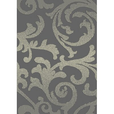 Brushwood Elegance Gray Area Rug Rug Size: Rectangle 78 x 106