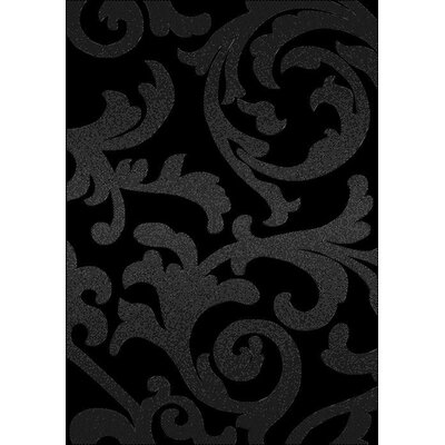 Brushwood Elegance Black Area Rug Rug Size: Rectangle 53 x 74