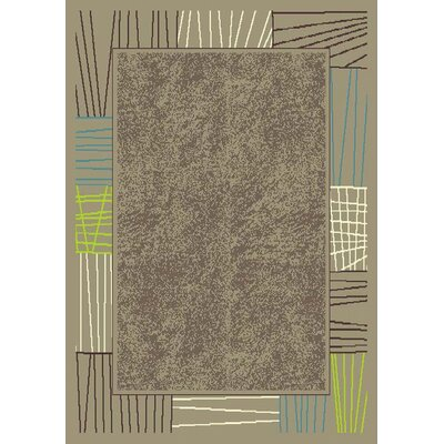 Cliffsage Bordered Taupe Area Rug Rug Size: Rectangle 53 x 74