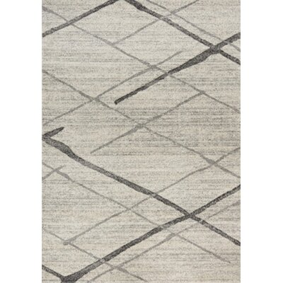 Woodring Etched Lines Gray Area Rug