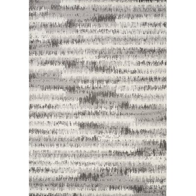 Woodring Static Lines Gray Area Rug Rug Size: Rectangle 710 x 106