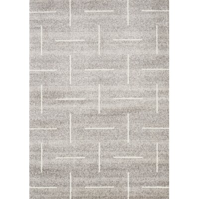 Vedder Sliced Lines Gray Area Rug Rug Size: Rectangle 53 x 77