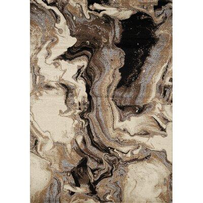 Woodrum Melting Cavern Beige/Black Area Rug Rug Size: Rectangle 53 x 77