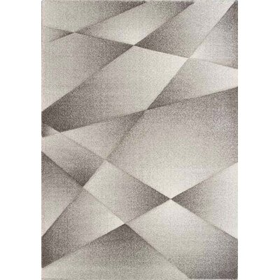 Zeta Ribbons Gray Area Rug Rug Size: Rectangle 67 x 96