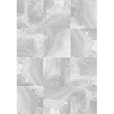 Zeta Marble Tiles Gray Area Rug Rug Size: Rectangle 67 x 96