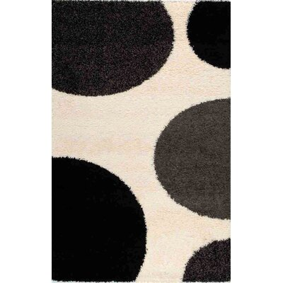 Porsha Game of Dots Cream Area Rug Rug Size: Rectangle 53 x 77