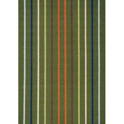Alorton Hand Woven Green Area Rug