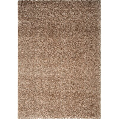 Stanley Glitz Low Pile Sand Area Rug Rug Size: 710 x 1010