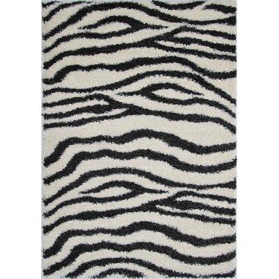 Bourbana Zebra Area Rug Rug Size: 7'10