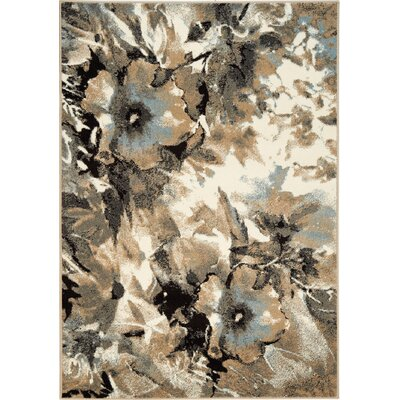 Britton Watercolor Flower Area Rug Rug Size: 53 x 77