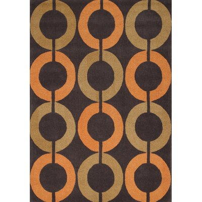 Lymon Textured Rondell Area Rug Rug Size: 53 x 77