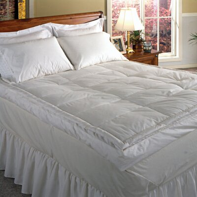 233 Thread Count Down Pillow Top Featherbed Size: Queen