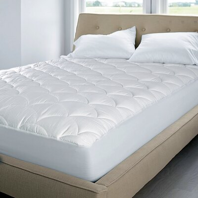 350 Thread Count Top Damask Dot Mattress Pad Size: King