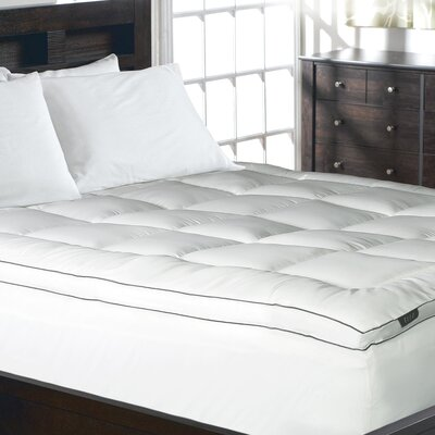 1200 Thread Count Cotton Rich Solid Mattress Pad Size: King