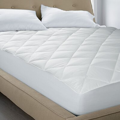 250 TC Cotton Top Satin Repellent with Scotchgard Mattress Pad Size: Queen