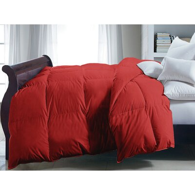 Down Alternative Comforter Size: Full/Queen, Color: Red