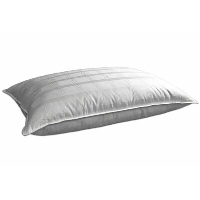 350 Thread Count 100% Cotton Windowpane Feather and Blended Down Pillow Size: Jumbo