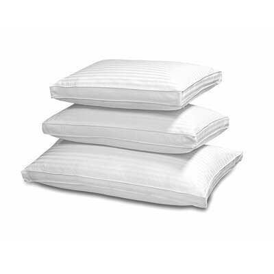 Premium 500 Thread Count Stripe Double Cover Down and Feather Pillow Size: King