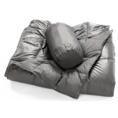 Packable Down Throw Color: Silver