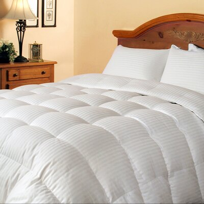 Damask Stripe All Season Down Duvet Insert Size: Twin